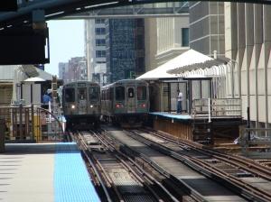 le métro de Chicago, en grande partie aérien