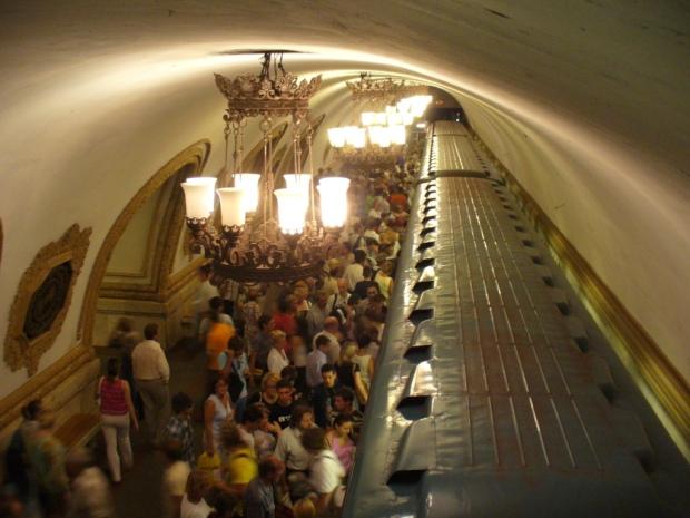 """Une des stations """"luxueuses"""" de Moscou"""