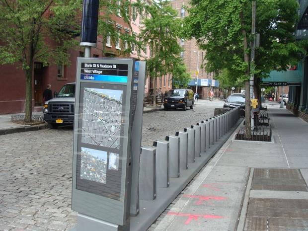 Une station dans le West Village avant l'installation des vélos